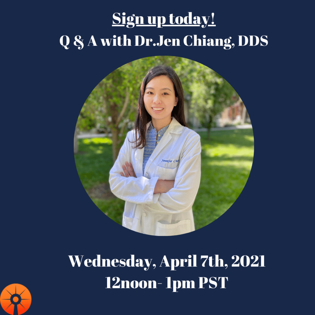 Q&A on Oral and Systemic Health on Wednesday, April 7th from 12 noon -1 PM PST